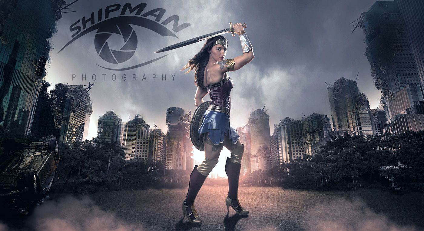Wonder Woman fan art composite photograph