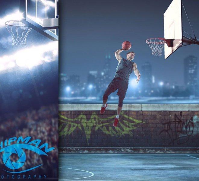 basketball senior portrait composites Bixby boy