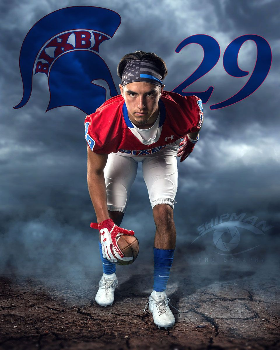 Senior football player Bixby OK