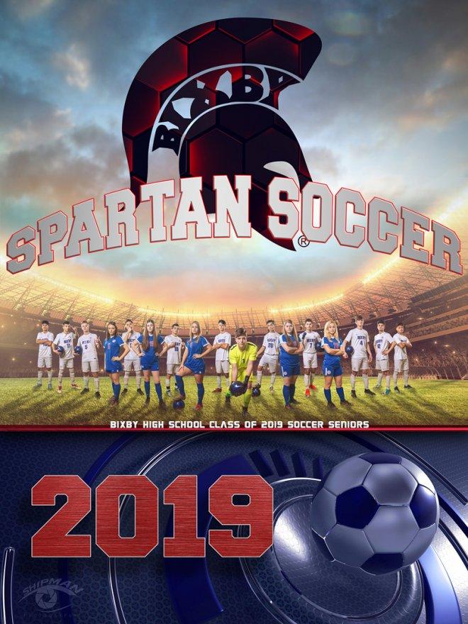 bixby high school soccer senior poster program cover