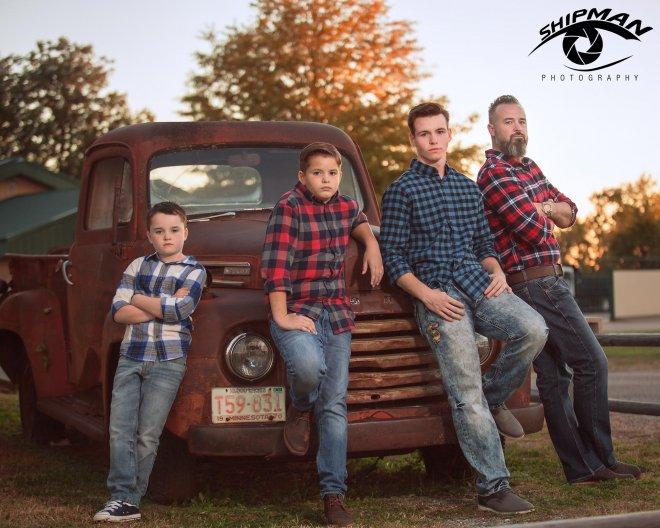 family portrait old truck tulsa broken arrow 88
