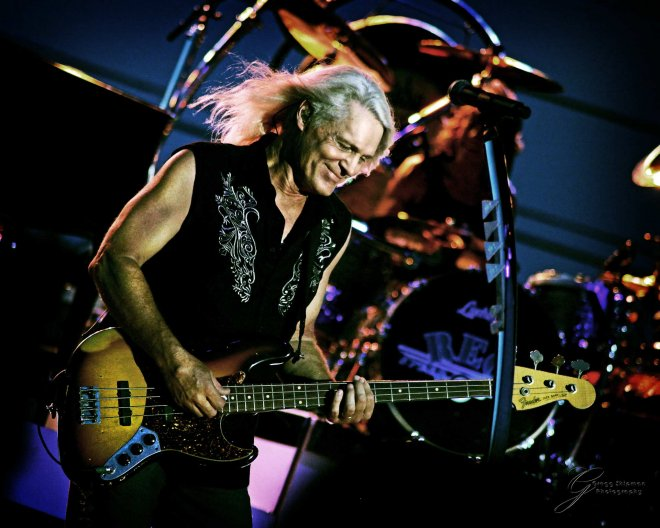 Live concert photo of REO Speedwagon's bruce hall