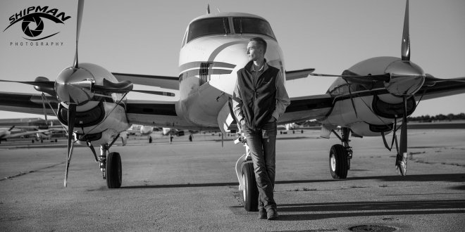 Bixby airplane senior portrait Tulsa Jenks airport