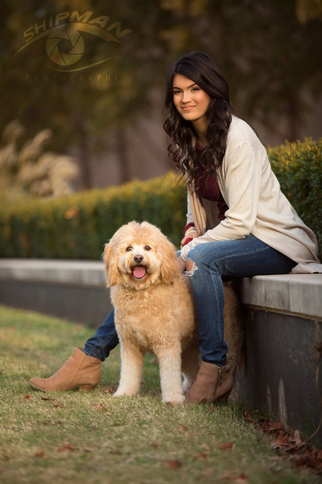 Bixby girl pet dog senior portrait