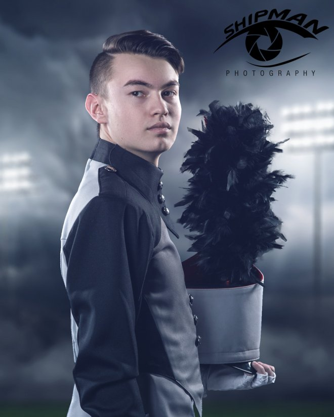 bixby OSU band senior portrait Tulsa studio composite