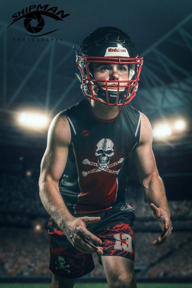 locus grove high school football player composite senior portraits