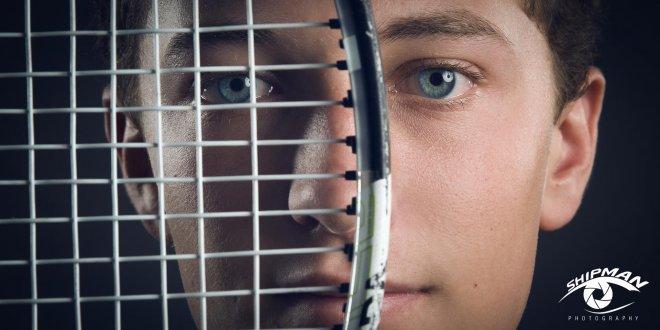 bixby tennis senior portrait in studio