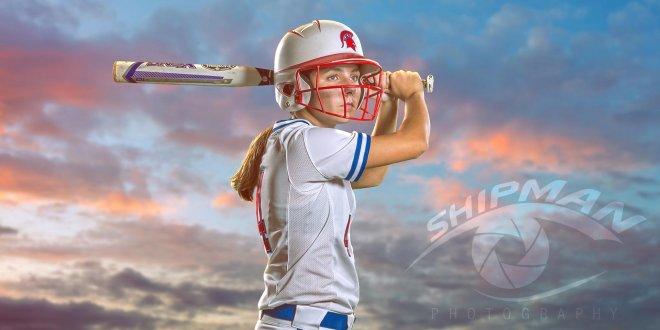 senior portrait bixby spartan softball studio composite