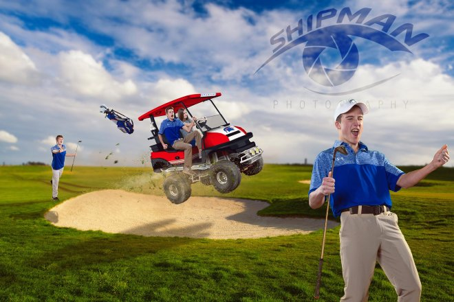 bixby high school golf poster banner senior