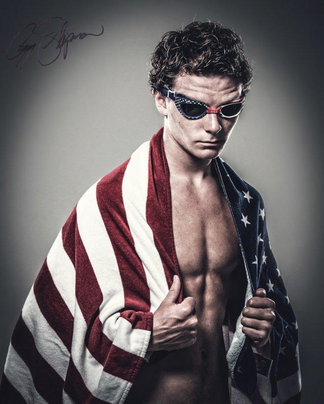 booker T Washington senior swimmer portrait photo