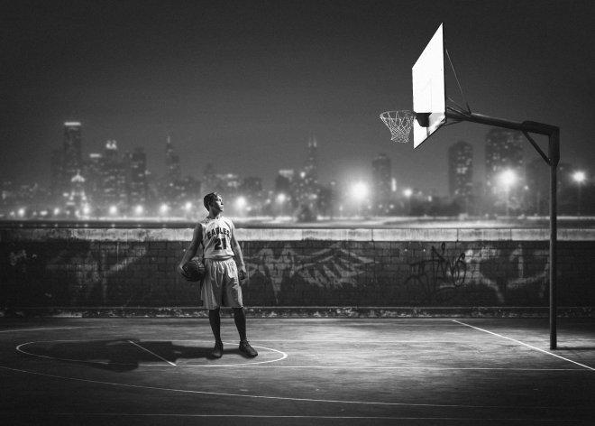 Guymon senior basketball player composite portrait picture