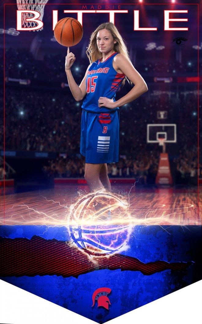maddie biddle bixby basketball senior banner