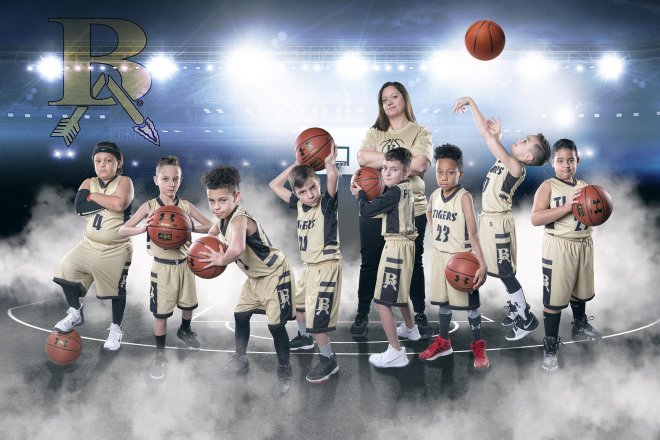 broken arrow youth basketball team poster banner photo
