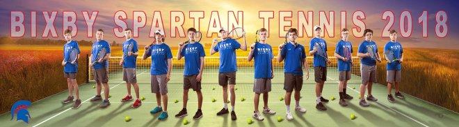 bixby high school tennis men's banner team poster