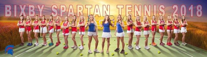 bixby spartan tennis banner 2018