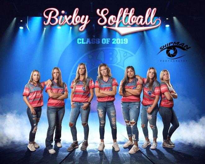 Bixby Spartan Softball Poster banner photograph