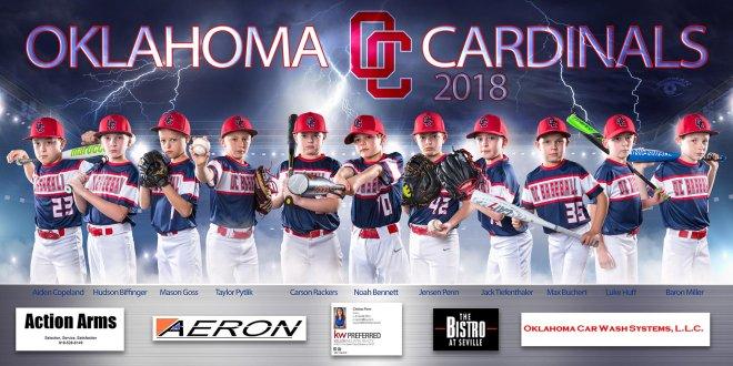 Oklahoma youth baseball team banner poster photograph