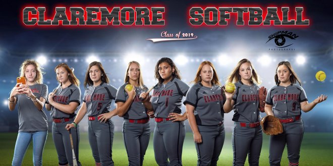 claremore softball poster banner photograph