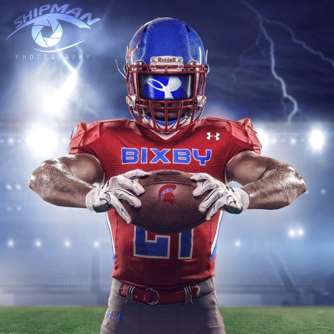 bixby spartan football stadium graphic