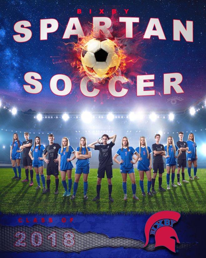 Bixby soccer 2018 senior poster banner photograph
