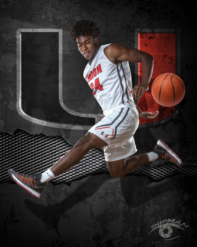 basketball player senior portrait Tulsa Union