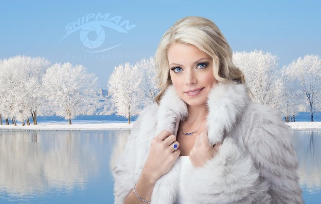Photography_Tulsa composite winter jewelry commercial billboard