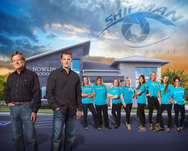 studio composite commercial team photo