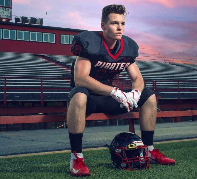 Senior portrait football player Tulsa