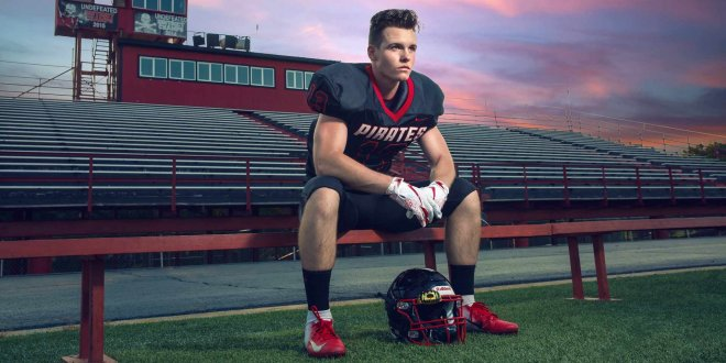 Senior portrait football player Tulsa