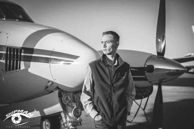 senior bixby boy pilot portrait pictures