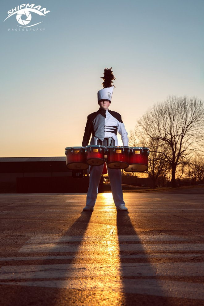 senior bixby boy pictures marching band