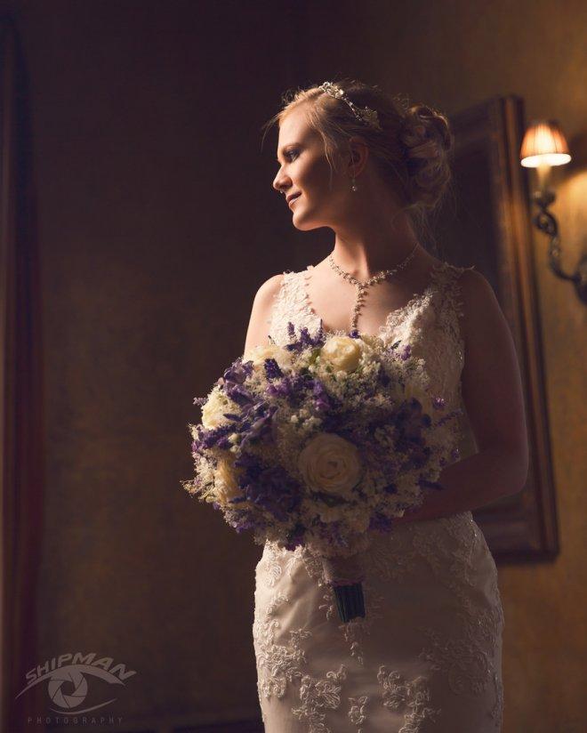 Bridal wedding day portrait in Dresser Mansion Tulsa Oklahoma