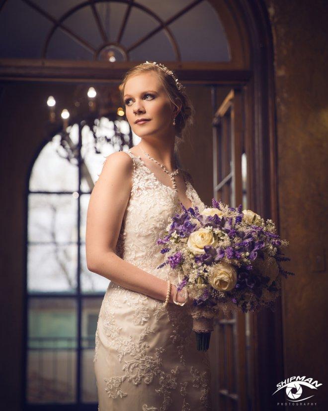 bridal wedding day engagement portrait Tulsa, Oklahoma