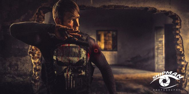 Punisher themed composite photography tulsa gregg shipman