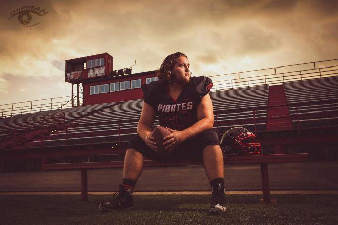 Senior Portrait football Tulsa Oklahoma Gregg Shipman