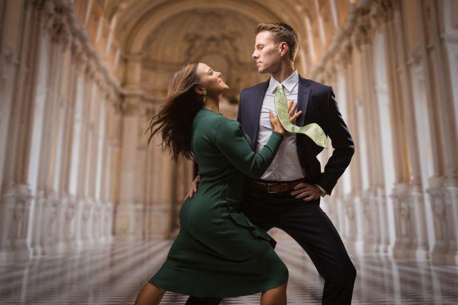 couple dancing portrait