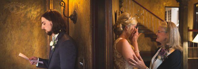 wedding couple pastor